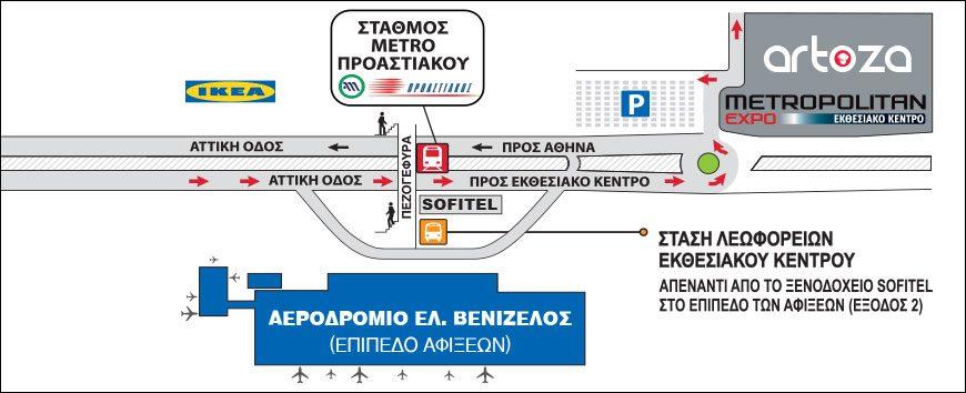Πρόσβαση στο εκθεσιακό κέντρο